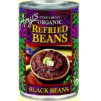 Amy's Organic Refried Black Beans, 15.4 oz. THUMBNAIL