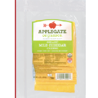 Applegate Farms Organic Sliced Cheddar, 5oz.