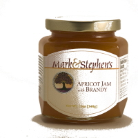Mark & Stephen's Apricot Brandy Jam, 12oz.