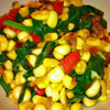 *Corn, Spinach and Bacon Sautee
