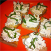 *Crostini w/ Ricotta & Goat Cheese