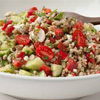 * Greek Tomato and Cucumber Salad With Farro