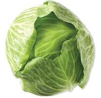 Organic Green Cabbage, ea.