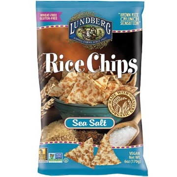 Lundberg Sea Salt Rice Chips, 6oz