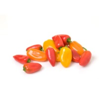 Sweet Baby Bell Peppers, .5lb. Clamshell