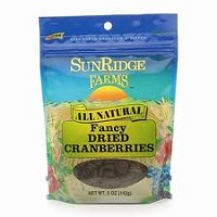 Sunridge Dried Cranberries, 7.5oz.