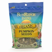 Sunridge Organic Pumpkin Seeds Tub, 8oz.