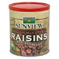 Sunview Organic Red Raisins, 15oz