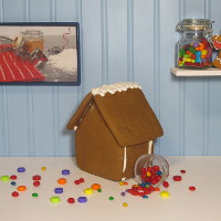 Alpine Gingerbread House Only - Assembled