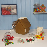 Alpine Gingerbread House Kit - Assembled