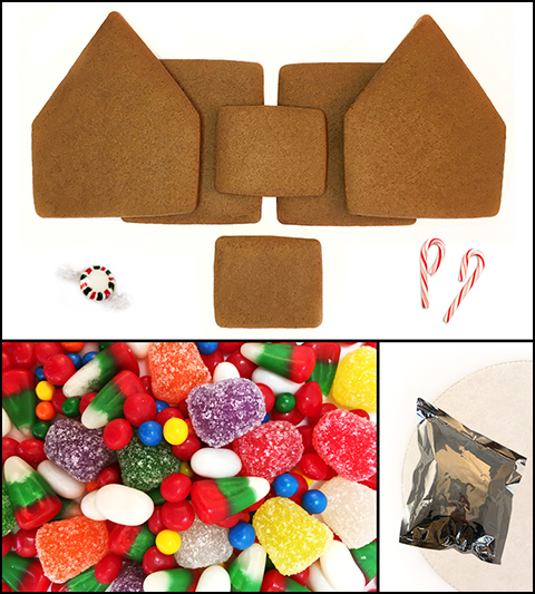 Unassembled Alpine Gingerbread House MAIN