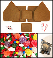 Alpine Gingerbread House Kit - Unassembled