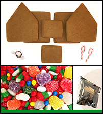 Unassembled Alpine Gingerbread House THUMBNAIL