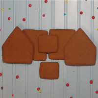 Alpine Gingerbread House Parts Only - Unassembled