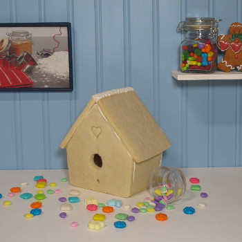 Come Fly With Me Sugar Cookie Bird House Only - Assembled