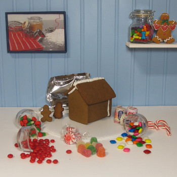 Cabin Gingerbread House Kit - Assembled