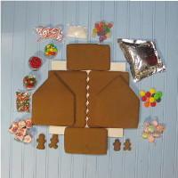 Chateau Gingerbread House Kit - Unassembled