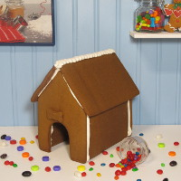 It's a Dog's Life Gingerbread House Only - Assembled