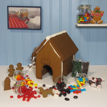 It's a Dog's Life Gingerbread House Kit - Assembled