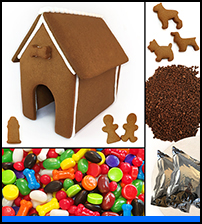 Dog Gingerbread House Kit - Assembled_THUMBNAIL