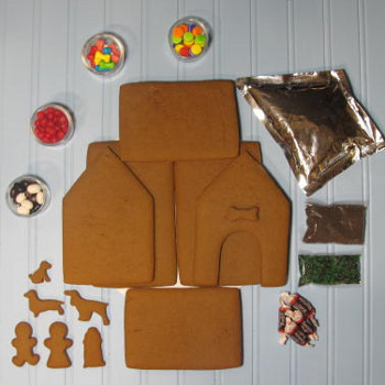 It's a Dog's Life Gingerbread House Kit - Unassembled