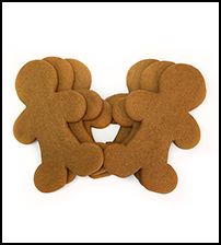 "Gingerbread Men 6"" Cookies THUMBNAIL"
