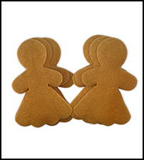 "Gingerbread Cookie 6"" Women THUMBNAIL"