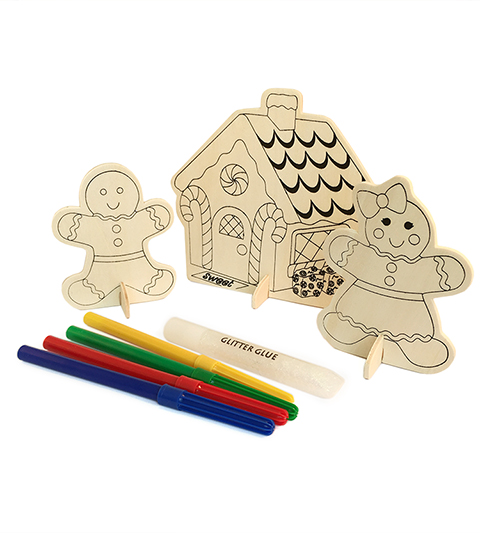 Gingerbread Wood Scene Set MAIN
