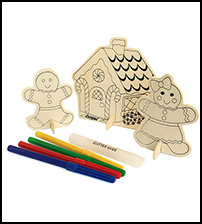Gingerbread Wood Scene Set