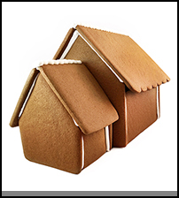 Extended Gingerbread House - Unassembled