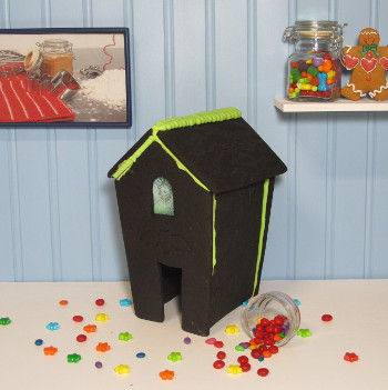 Halloween Gingerbread House Only - Assembled