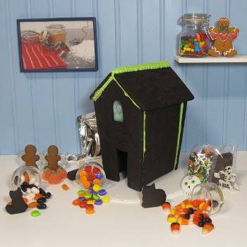Halloween Gingerbread House Kit - Assembled