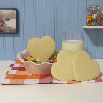 Sugar Cookie Heart Cookies
