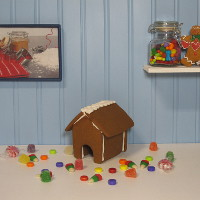 Mouse Gingerbread House Only - Assembled