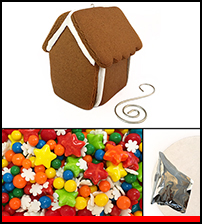 Holiday Ornament Gingerbread Kit - Assembled