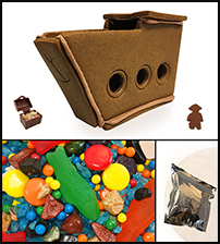 Chocolate Gingerbread Pirate Ship Kit - Assembled_THUMBNAIL
