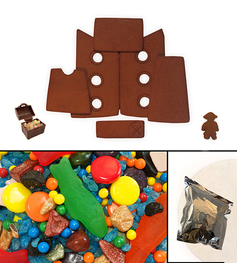 Chocolate Gingerbread Pirate Ship Kit - Unassembled