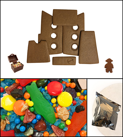 Chocolate Gingerbread Pirate Ship Kit - Unassembled MAIN