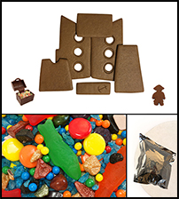 Chocolate Gingerbread Pirate Ship Kit - Unassembled_THUMBNAIL