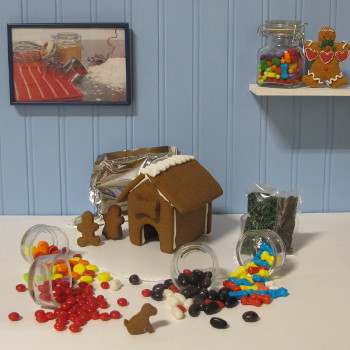 Lil' Puppy Gingerbread House Kit - Assembled