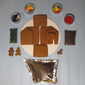 Lil' Puppy Gingerbread House Kit - Unassembled
