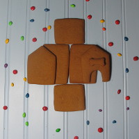 Lil' Puppy Gingerbread House Parts Only - Unassembled