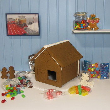 My Favorite Shop Gingerbread House Kit - Assembled