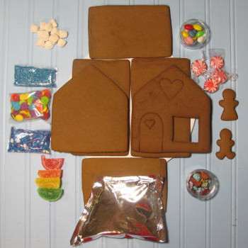 My Favorite Shop Gingerbread House Kit - Unassembled