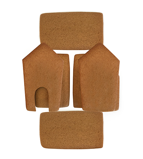 Two Story Gingerbread House Parts Only - Unassembled