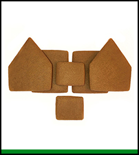 Unassembled Gingerbread Alpine House Parts THUMBNAIL
