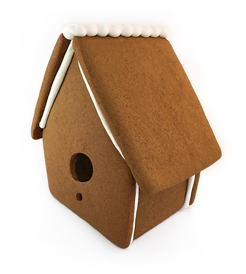 Gingerbread Bird House Only - Assembled MAIN