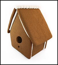 Gingerbread Bird House Only - Assembled