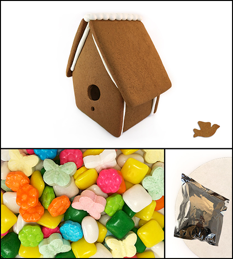 Gingerbread Bird House Kit - Assembled MAIN
