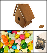 Gingerbread Bird House Kit - Assembled_THUMBNAIL